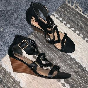 Shoes - Black Wedges